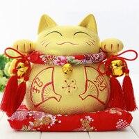 Crafts Arts Home Decoration Lucky Cat Ornaments Oversized Ceramic Japanese Piggy Piggy Bank Creative Gift Shop