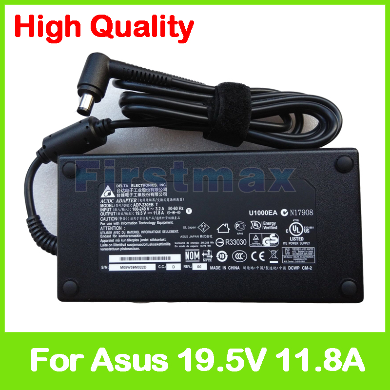 Slim 19.5V 11.8A laptop charger ADP-230EB T 90XB01QN-MPW020 AC power adapter for Asus G701VO W90VN W90VP Gaming Laptop 19v 9 5a 180w adapter adp 180hb b for msi gt60 gt70 power charger for asus g55vw g75vw g75vx g750 g750jw g750jx