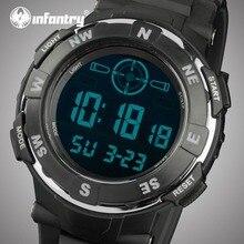 Для пехоты мужские часы лучший бренд класса люкс светодиодный цифровой дисплей, военные часы, Для мужчин спортивные армейские часы для мужские черные резиновые часы Relogio Masculino