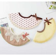 Baby bib saliva towel rice 360 circular bib cotton pocket maternal infant supplies Baby Bibs Cotton Lace Tassel bow burp clothes