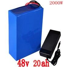 48 V батарея 48 V 20AH электрическая велосипедная батарея 48 v 20ah литий-ионная батарея 48 V 1000 W 2000 W батарея с 54,6 V 2A зарядным устройством