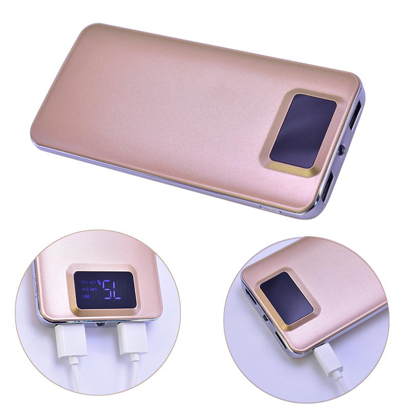 20000 mah Power Bank External Battery quick charge Dual USB LCD Portable Mobile phone Charger Battery Charger Cases For iPhone 8