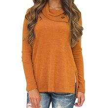 Side Split Buttons Winter Autumn Shirts Long Sleeve Loose Warm Women Shirt Casual Sexy Blusas Slim Top Blouses Plus Size Gv047 split sleeve plus size wrap top