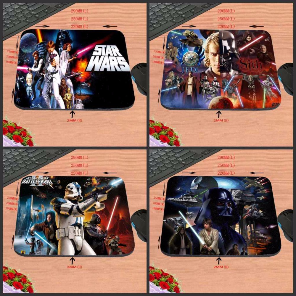 Mairuige Mairuige New Arrivals Top Game Mouse Pad Print Star Wars Style Durable Anti-slip Mouse Mat for Optical Mouse Pad