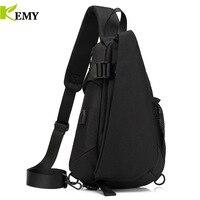 KEMY New Arrival Crossbody Bags Men Chest Pack Short Trip Messengers Bag Waterproof Shoulder Bag USB Sling Bag For Ipad Pocket
