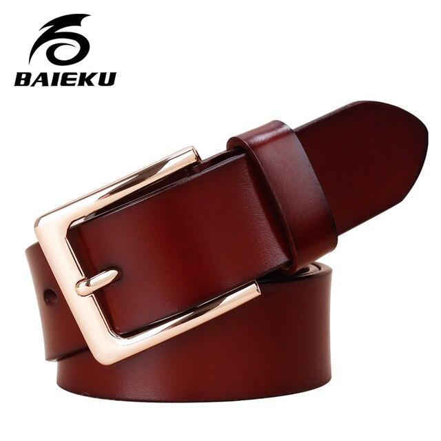 BAIEKU The fashion leisure women's belts The red belt Nappa leather belt