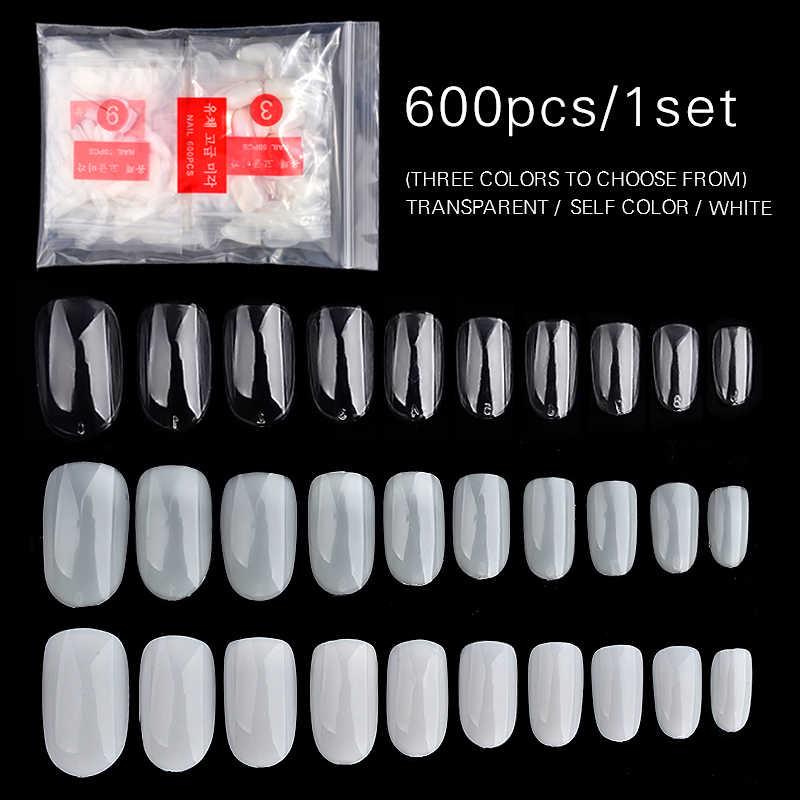 600 шт/1 Упаковка накладные ногти, чистые натуральные ногти, полная карточка, для дизайна ногтей, для демонстрации, для практики, акриловый УФ-Гель-лак, инструмент для маникюра