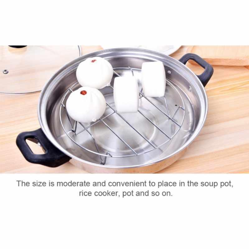 Ze stali nierdzewnej o dużej Foot wielofunkcyjny z czterema narożnikami do gotowania na parze jajko kuchenka do gotowania ryżu Anti-Scalding izolacja cieplna stojak na
