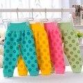 Leggings bebê Calças Barriga Proteção de Arquivos Abertos Impresso Dot Bebê Roupas de menina Do Menino Do Bebê Calças de Cintura Alta Para As Crianças Algodão calças