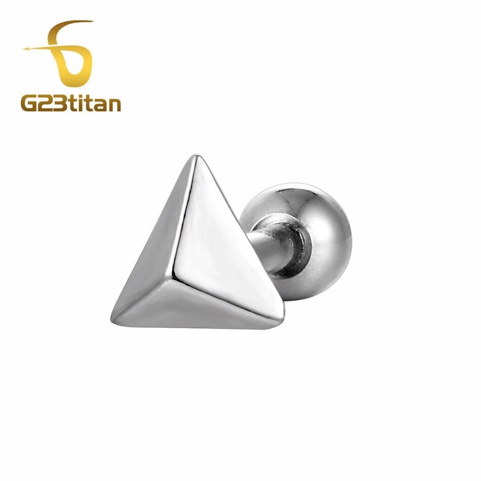 G23titan Titanium Ear Studs Ear Tragus Lobe Pinna Auricle Helix Piercing Cartilage Earrings 16 Gauge Ear Earrings Rings