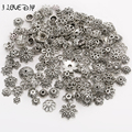 130pcs/lot Antique Tibetan Silver plated mixed size Bead Caps Fit Jewelry Findings Making End Caps