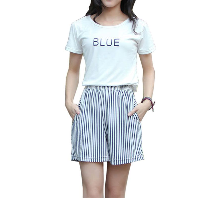 Casual Loose Wide Leg Casual Shorts Fashion Striped Brief Shorts High Waist Womens Black And White Stripe Summer Shorts