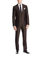 2017 Hot Simple Suits Men Dark Brown Wedding Suits Grooms Tuxedos Mens Suits Fit Groomsmen Suits (Jacket+Pant)