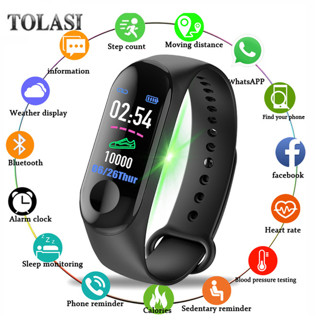 M3plus Smart Band Watch Color Screen Wristband Heart Rate Activity Fitness tracker Smart Electronics Bracelet VS Xiaomi Miband 2
