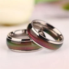 Changing Color Fashion Adjustable Mood Ring Wedding Rings For Men and Women