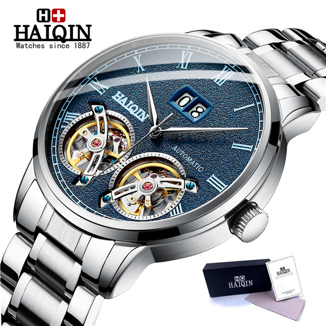 HAIQIN Men's watches Mens Watches top brand luxury Automatic mechanical sport watch men wirstwatch Tourbillon Reloj hombres 2020