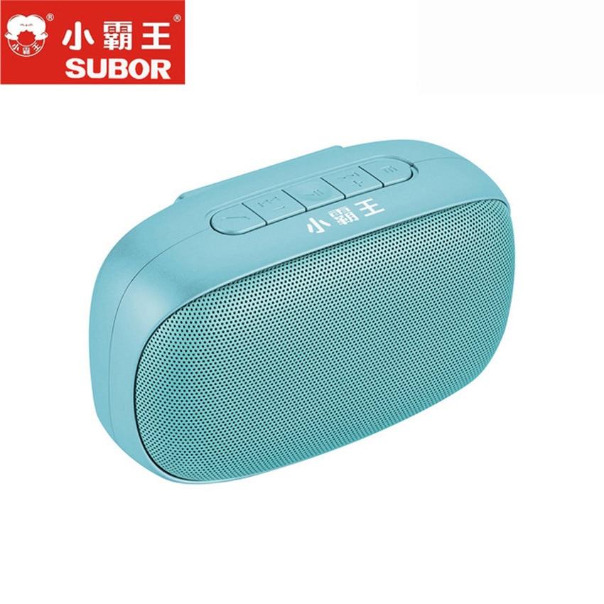 2018 offre spéciale Subor D50 sans fil TF boîte Audio stéréo Portable haut-parleur Bluetooth avec micro mains libres USB HiFI Woofer pour Xiaomi