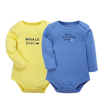 Baby Bodysuit 2pcs Baby clothes Long Sleeve Girl Boys Jumpsuit New Spring Newborn Baby Clothes Cotton Body Infant Products