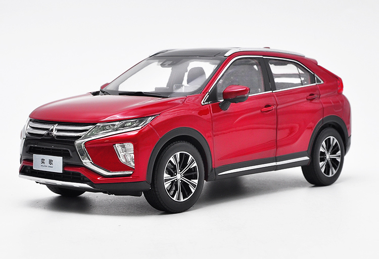1:18 Diecast Model for Mitsubishi ECLIPSE CROSS 2018 Red SUV Alloy Toy Car Miniature Collection Gifts
