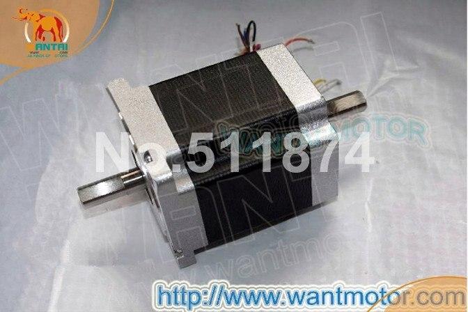 Best Sell CNC Wantai Nema34 Stepper Motor Dual Shaft 85BYGH450D 007B 890oz in 94mm 2A CE