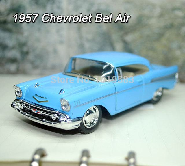 Yj 140 Scale Car Model Toys Usa 1957 Chevrolet Bel Air Vintage