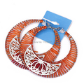 hot sale Concise style bohemia hoop colorful hollow women earrings