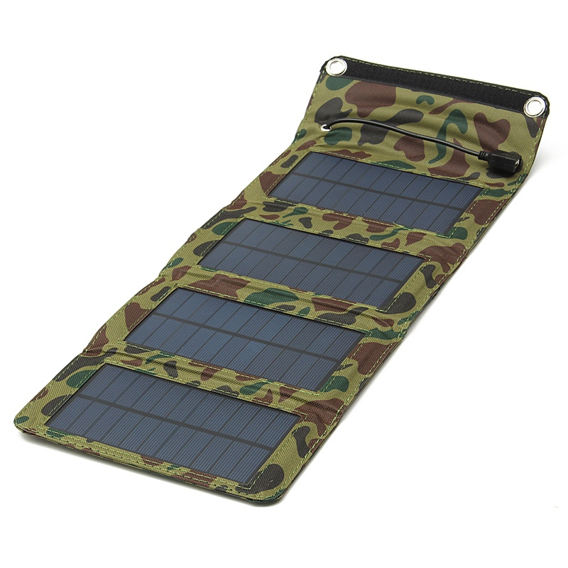 LEORY 7W USB Portable Solar Battery Charger Panels Camping Travel Folding Mono Solar Panel For iPad Cellphone MP3 Tablet