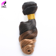 Vallbest Brazilian Loose Wave Ombre Hair 100% Non Remy Hair Human Hair Bundles Brazilian Hair 1B/27 Color 100g/Piece Double Weft