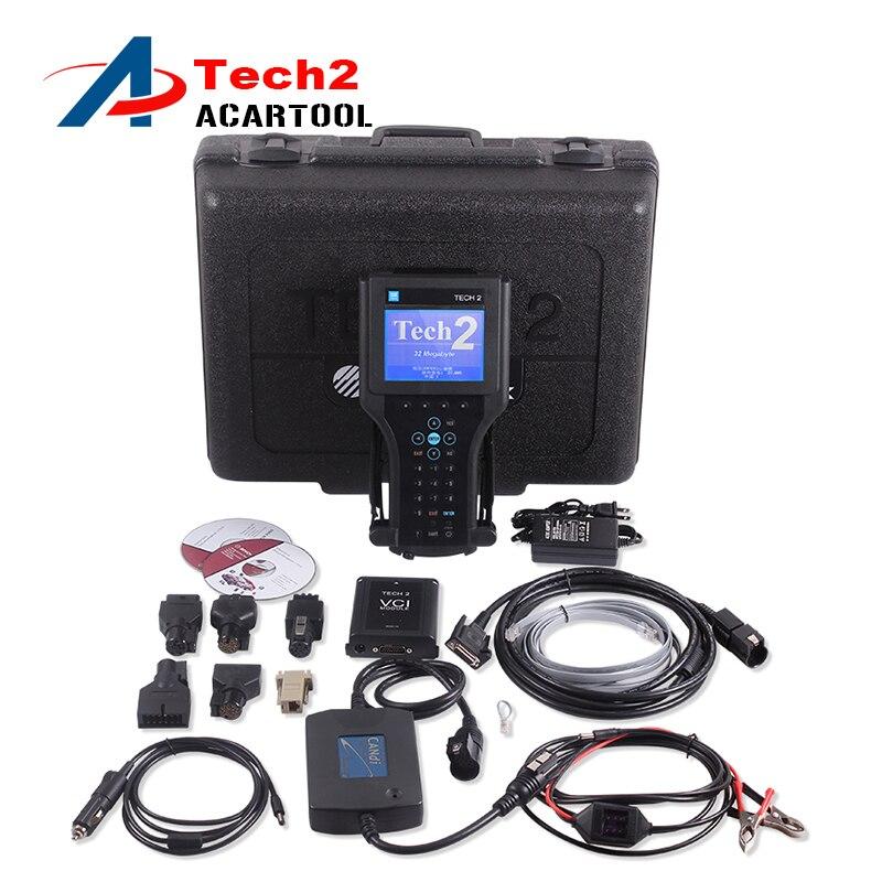 Prix pour DHL livraison gratuite gm tech2 outil de diagnostic pour GM/SAAB/OPEL/SUZUKI/ISUZU/Holden Vetronix gm tech 2 scanner pour Gm Tech2