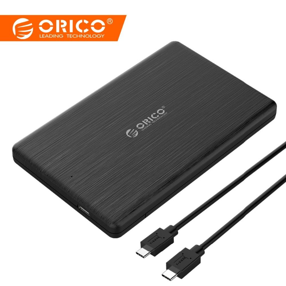 ORICO HDD Fall 2,5 zoll SATA zu USB3.1 Gen2 Typ-C/USB3.0 SSD Adapter für 7mm USB C Festplatte Box Externe HDD Gehäuse