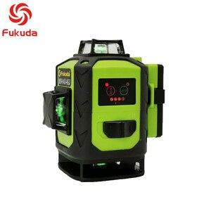 Image 2 - Fukuda 4d nível laser 16 linhas verde nível laser automático auto nivelamento 360 vertical & horizontal tilt & modo ao ar livre