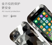 LOVE MEI Camouflage Small Waist Metal Case For iPhone 7 8 7 Plus 8 Plus Aluminum Armor Shockproof Cover For iPhone7 7Plus 8Plus