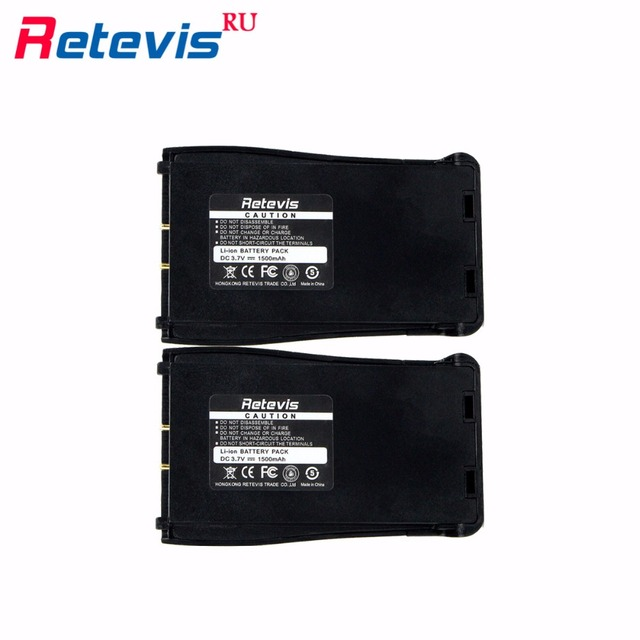 2Pcs Durable Original Walkie Talkie Battery 1500mAh Li-ion Battery For Baofeng Retevis H-777 Portable Radio Ship From Moscow