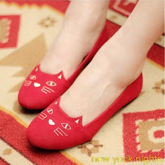 New Womens Flats Dress Shoe 2015 Korean Cute Flat Shoes Fashion
