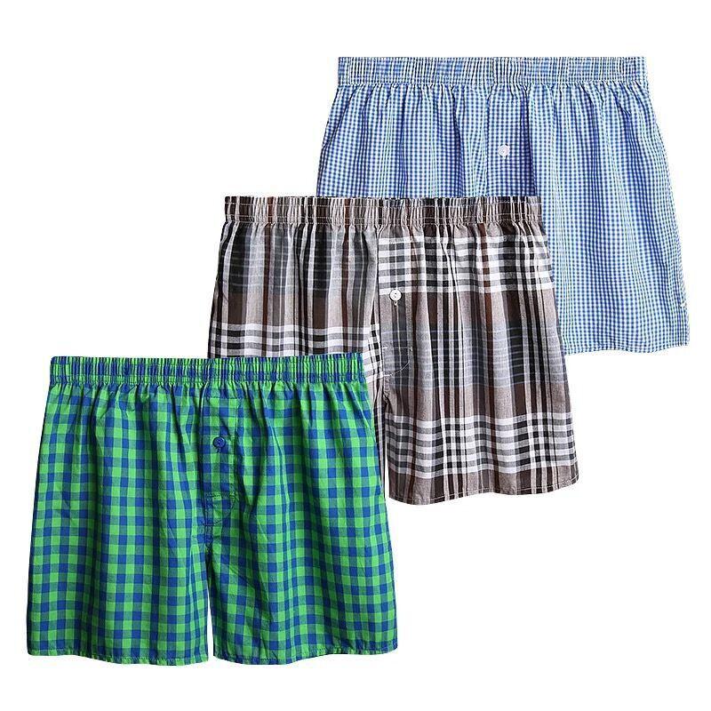 Men Underwear Panties Loose Shorts Boxers Breathable Men's Home Big Cotton 3pcs/Lot Male