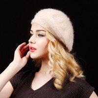 Fashion Autumn Winter Women's Fedora Caps Beret Caps For Woman Lady Faux Fur