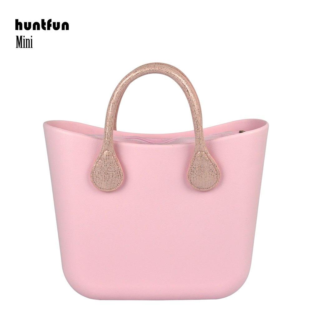 huntfun fashion women Mini EVA bag with Waterproof Insert inner pocket short leather Handles Obag style