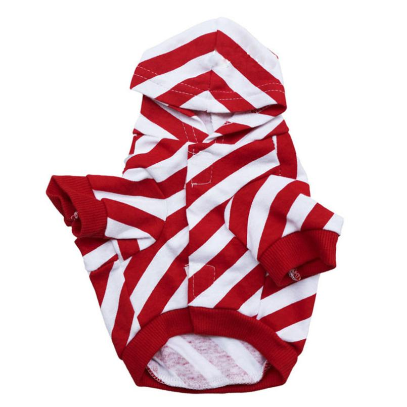 2017 New Design Dog Clothes pet Clothing for dogs cats Outerwear Doggie littlest pet shop dog Pet Apparel Red Stripe Y5