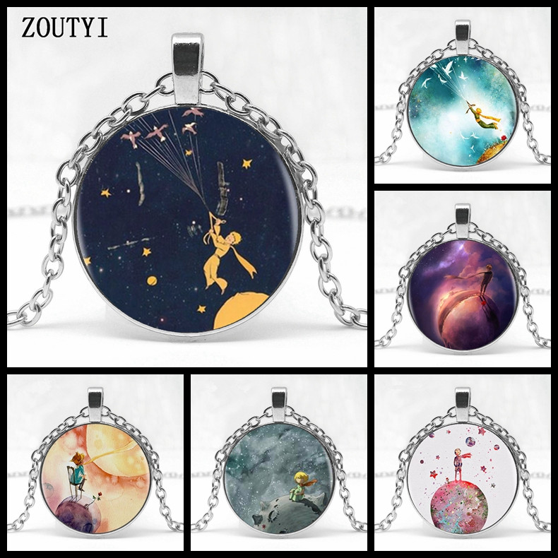 2018/ hot sale, new little prince glass pendant necklace jewelry, men and women wear jewelry.