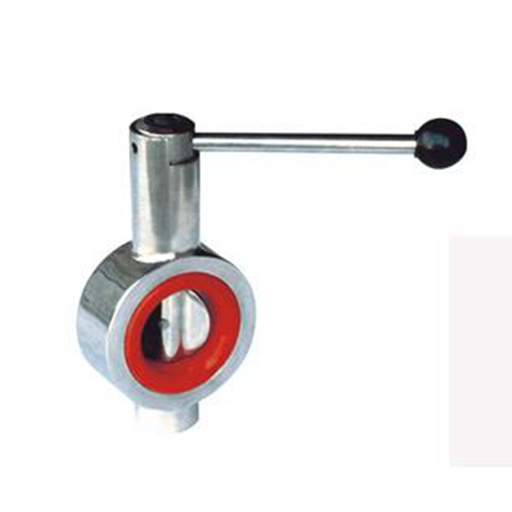 DN25 DN250 SS304 clip type butterfly valve Manual, Stainless steel butterfly valve,sanitary butterfly valve