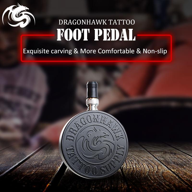 Pédale de pied de tatouage en alliage sculpté pour interrupteur d'alimentation fournitures de cordon BNC