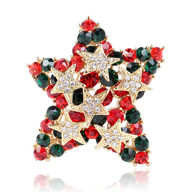 CINDY XIANG Cute Rhinestone Star Brooches for Women Christmas Adorn Pins  Shirt Dress Coat Accessories Jewelry 4fdc3ca3ee5f