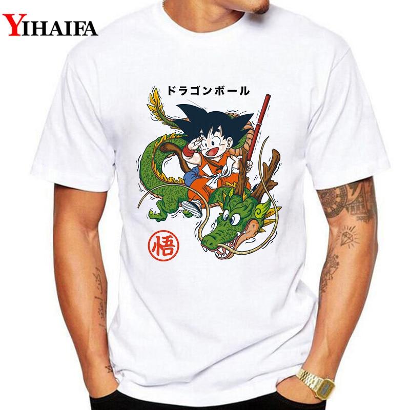 Harajuku Men T Shirt Dragon Ball Z Goku Anime Graphic Tee 3D T Shirts Casual Tees Fashion White Tops in T Shirts from Men 39 s Clothing