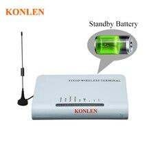 KONLEN беспроводной фиксированный GSM 900/1800 МГц Терминал 2 порта Подключение домашнего рабочего телефона работа с sim-картой Поддержка резервного аккумулятора