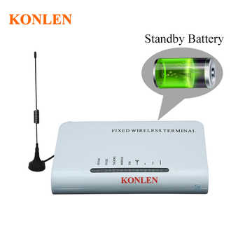 KONLEN Wireless Fixed GSM 900/1800 MHZ Terminal 2 Ports Connect Home Desktop Phone Work With Sim Card Backup battery Support - DISCOUNT ITEM  31 OFF Security & Protection