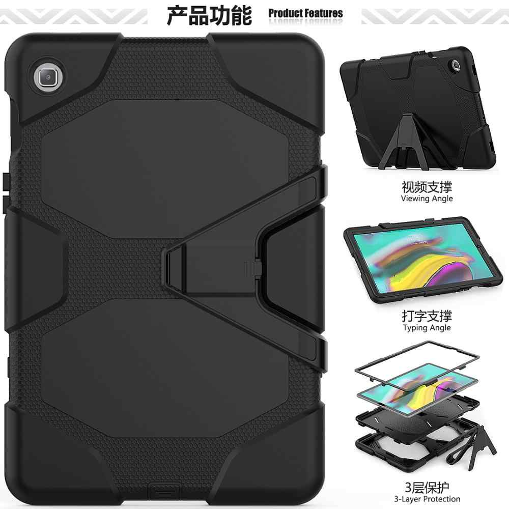 Kids Safe Shockproof case For Samsung Galaxy Tab S5E 2019 SM-T720 SM-T725 Tablet stand Heavy Duty Hard PC Back Cover + pen
