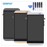 AAA 100 Tested Black White Gold For HTC One M8 LCD Display Touch Screen Digitizer Assembly