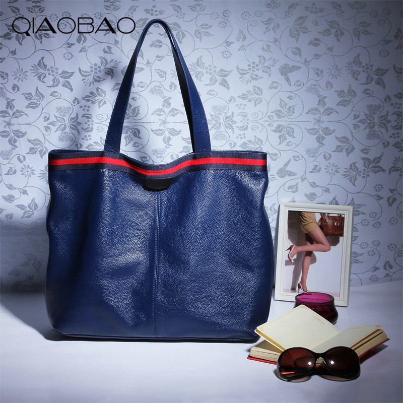 QIAOBAO Autumn Fashion 100% Genuine Leather Women Shoulder Bag European Brand Designer Real Leather Bag Shopping Handbag anonyme designers короткое платье