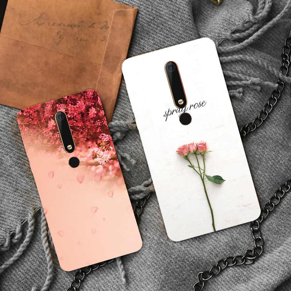 יוקרה TPU רך מקרה נייד עבור Nokia 6 כיסוי עבור Nokia6 כיסוי סיליקון חמוד Cartoon צבע חזור כיסוי מקרה עבור נוקיה 6 2018