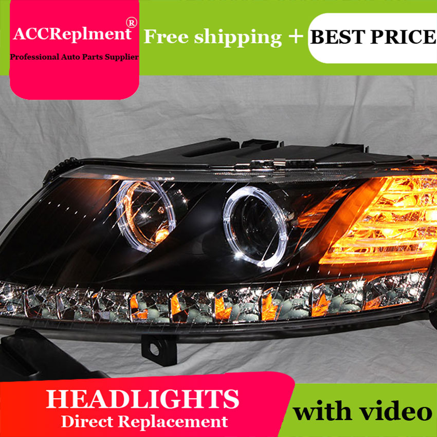 Car Styling for Audi A6 C5 Headlights 2005-2008 A6 LED Headlight DRL Lens Double Beam H7 HID Xenon bi xenon lens стоимость